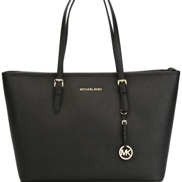 Michael Michael Kors Black Jet Set Travel Tote